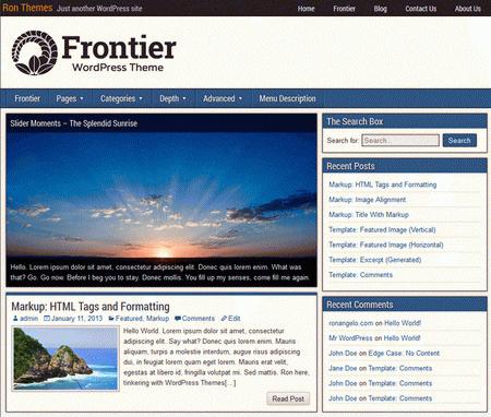Бесплатные русские темы wordpress: Frontier