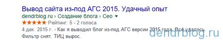 Отображение рейтинга в сниппете Google