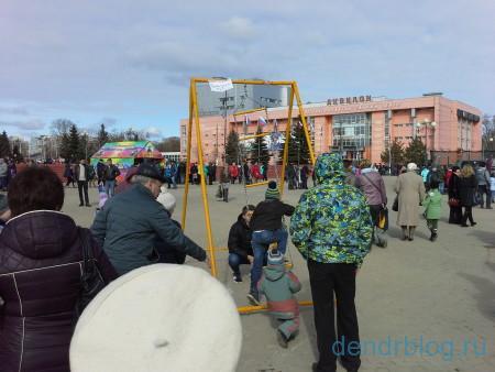Масленица в Орехово-Зуево 13 марта 2016. Аттракцион странный