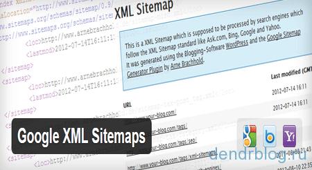 Плагин wordpress Google XML Sitemaps