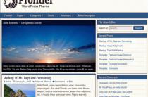 Бесплатные русские темы wordpress Frontier