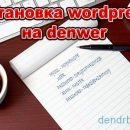 Установка wordpress на denwer подробно по шагам